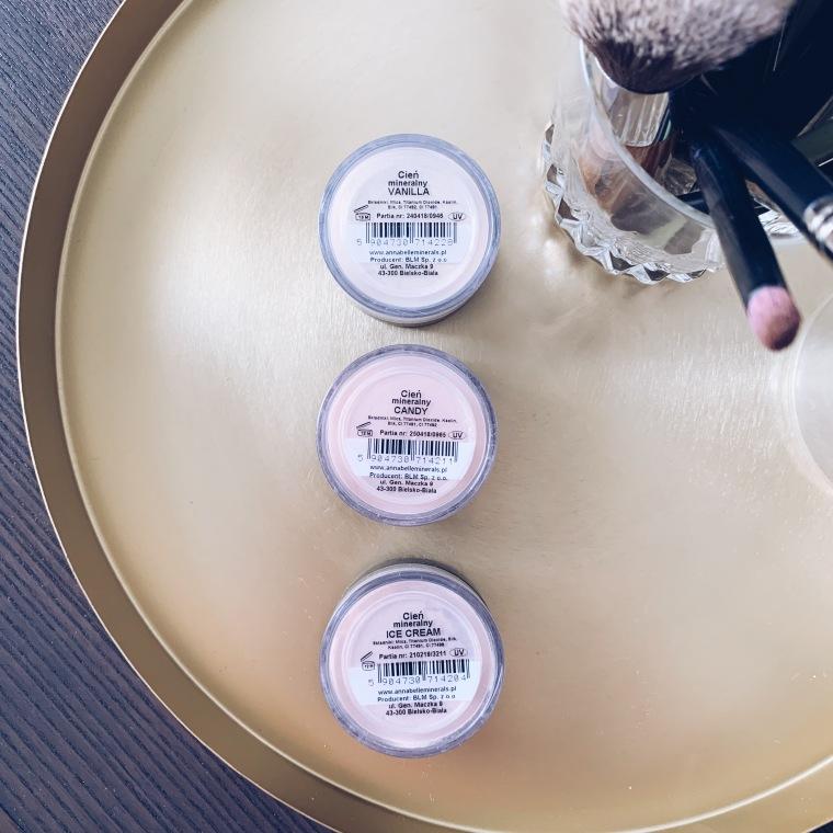 Annabelle Minerals cienie mineralne Vanilla, Candy, ICe Cream