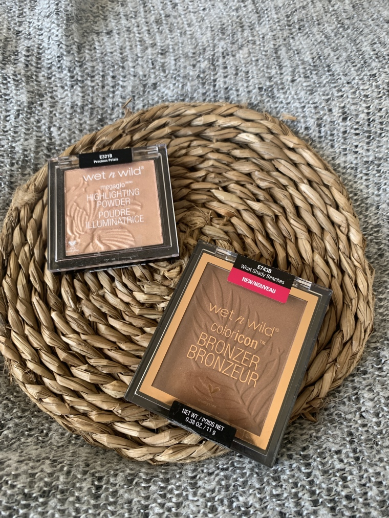 WetNWild MegaGlo Rozświetlacz Precious Petals i Bronzer Color Icon What Shady Beaches